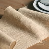 Wholesale PC cm X275cm Jute Table Runner Wedding Decoration Linen Table Flag Party Supply
