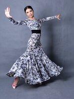 Wholesale New Ballroom Dance Dress Modern Waltz Standard Competition Flower Dress Color B04
