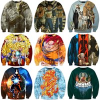 Men avatar cartoon characters - Anime Dragon Ball Z Characters D Sweatshirt Cartoon The Avatar State Print Crewneck Pullovers Women Men Long Sleeve Outerwear