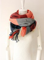 Wholesale Ladies winter new cashmere scarf plaid scarf scarf to keep warm in winter and lovers