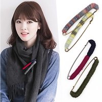 Wholesale Sweater Brooches Korean - Japan and South Korea version of fashion cardigan sweater brooch female corsage coat big Korean scarf shawl pin pin buckle accessories
