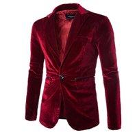 achat en gros de vestes de flanelle de gros-Vente en gros de haute qualité printemps nouveaux hommes de flanelle costume veste blazers gentleman loisirs occasionnels hommes d'affaires rouge violet noir costume