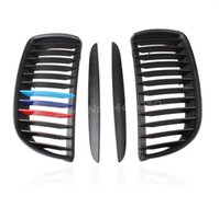 Wholesale 2pcs Matte black M Color Front Kidney Hood Grille Upper Hood Eyelids For BMW E90 Series Accessories