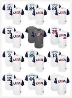 Wholesale USA Crawford Arenado Jones Hosmer Goldschmidt Lucroy Miller Carpenter Murphy World Baseball Classic jersey