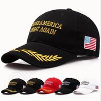 al por mayor diseños de bordado-Hacer América Grande otra vez Donald Trump Hat Casquillos ajustables republicanos del bordado Casquillos del voto de América 20 diseños OOA1018