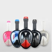 Wholesale 2016 New Wide View Anti Fog Underwater Scuba Mergulho Diving Snorkeling Gear Snorkel Mask Dive Equipment With Camera Holder Colors