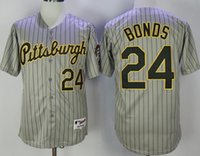 Wholesale Men s Pittsburgh Pirates Barry Bonds Andrew McCutchen Pull Down Majestic jersey Grey Stripe full size