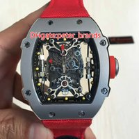 Wholesale High quality fashion men mechanical watches grey hollow stainless steel case fashion sports fabric brand Mens Watch watchband