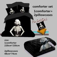 Wholesale 3D Marilyn Monroe Comforter Sets of PC Light Weight Comforter Summer Duvet Bedspread Pillowcase Full Queen Size