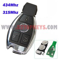alarms mercedes - Smart Car Key Mhz button with emergency Key With Battery Holder for Mercedes NEC Intelligent Remote