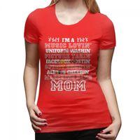 Precio de Marching band-Camisas rojas de la ropa del algodón de la FAMILIA de FÚTBOL de la MADRE de la MAMÁ de la BANDA de MARCHING de las mujeres.