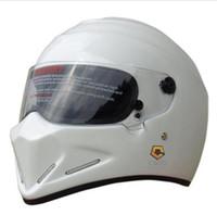 ABS best safety helmet - Best Sales StarWars ATV helmet Safety Motorcycle Full Face Helmets FRP Racing Helmet Simpson same model ATV
