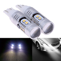 Wholesale 2Pcs High Power T10 W5W LED Brake Backup Reverse Car Lights W Back Up SMD LED Projector Lens Bulbs for Car RV Boat