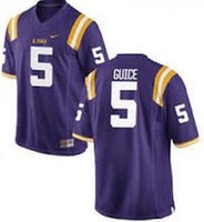 Wholesale LSU Tigers running back Derrius Guice jersey shirts size small S xl