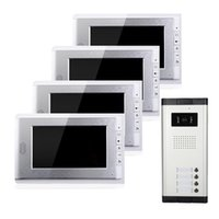 TFT-LCD 7 inch apartment doorbells - wired video door phone with buttons infrared night vision inch apartments doorbell