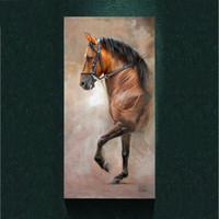 Конные фотографии Цены-Современный салют Лошадь картина картина абстрактного искусства Печать на холсте, холст плакат животное живопись, печать, стены Домашний декор постер