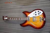 big acoustic guitar - 12 string electric guitar RIC Carved headstock Semi acoustic guitar with big R bridges low cost
