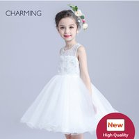 bead embroidery supplies - white dress girls cheap flower girl dresses electronics supply kids girl party dress high quality dress
