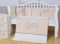 Wholesale European High Quality Nursery Bedding Sets pieces set bed sheets pillow cover cotton crib protection