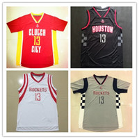 Wholesale mens Newest James Harden jersey red white black shirt throwback stitched