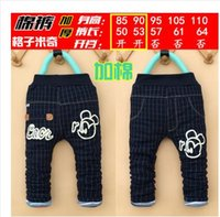 Jeans baby skinny jeans for boys - Children s jeans for boys Winter girls thick cotton jacket cotton jacket Baby plus velvet years old