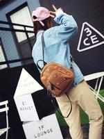 artistic interiors - Artistic retro school wind simple wild corduroy cashmere shoulder bag female Korean version of the tide leisure mini small backpack