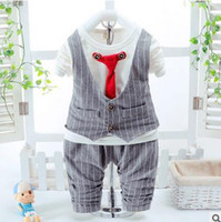 Boy baby boy summer wedding outfit - 2 Toddlers Baby Boy Set Gentleman Baby Boy Clothes Bow Tie Vest Shirt Pants Baby Outfit Clothing Set Newborn Wedding Suit