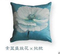 Wholesale Chinses style Elegant flower Pillow Case It can be used in the office home bedside cm Support mix order