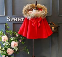 Wholesale baby girls winter Cloak coats kids warm pincho outwear Protection baby winter cape Clothing Children baby girls cloke outfits Boutique D0075