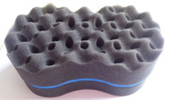 Wholesale New Double Side Barber Hair Sponge Brush For Dreads Locking Twist Coil WAVE Blue High Quality