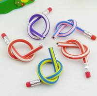 Wholesale New Creative Stationery Magic Soft Pencil Flexible Plastic Pencil Easily Bend Pencil