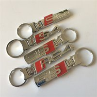 audi keychains - Good quality mix logos DHL alloy SLINE S3 S4 S6 RS RS4 keychains car key ring chrome
