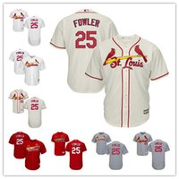 Wholesale Men s St Louis Cardinals Dexter Fowler baseball Jersey color white cream grey red