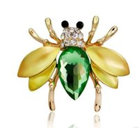 bee pearls - Fashion brooches Han edition set auger cute little bee pin The new stones brooch Both men and women