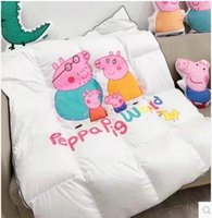 Wholesale Export white goose down duvet cartoon was the core of pure cotton thickened Infant Baby Nursery winter quilt