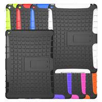 Tire Skin Hybrid Robot Back Case avec support Kickstand pour iPad PRO 9.7 '' 9.7 pouces iPad 2/3/4