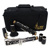 abs copper plating - Key ABS bB Flat Soprano Binocular Clarinet with Cork Grease Cleaning Cloth Gloves Reeds Screwdriver Woodwind Instrument