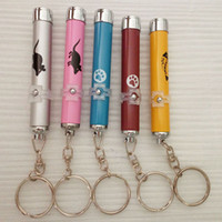 Wholesale 2016 Creative and Funny Pet Cat Toys LED Laser Pointer light Pen With Bright Animation Mouse Random Color