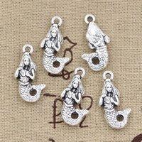 Wholesale Charms mermaid mm Antique pendant fit Vintage Tibetan Silver DIY for bracelet necklace