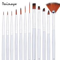 opp art supplies oil paints - Fine Art Round Tip Nylon Hair Paint Brush Pen refill For Drawing Art Sketch Gouache Oil Student Stationery Supplies