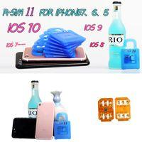 Wholesale Original R SIM RSIM11 r sim11 rsim unlock card for iPhone plus iOS7 ios ios10CDMA GSM WCDMA SB AU SPRINT G G