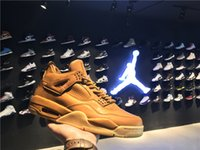 Air Retro 4s Jordan 4 Hombres Mujeres Jordans Zapatos de baloncesto Premium Wheat Ginger 819139-205 41-47.5