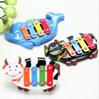 Wholesale Cartoon animal order four infant baby toy piano music on early childhood music toys