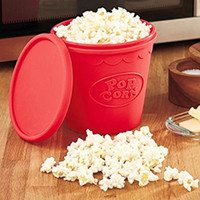 Wholesale Popcorn Makers DIY Silicone Microwave Popcorn Maker Bucket Snack Bucket Family Party Supplies Kitchen Tools
