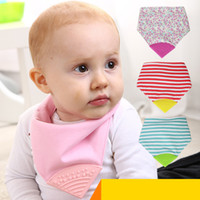 Wholesale Baby Bibs Feeding Cotton Silicone Dot Stripe Floral Print Burp Cloths Bandana for Babies Towels Infant Kids Apron