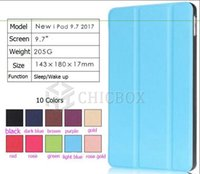 Wholesale For NEW IPAD Smart Cover Flip Magneted Leather Case Back Stand with Sleep Wake up Funtion opp package free DHL