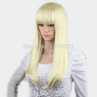 ba wig - ynthetic Hair Wigs Cheap good quality kanekalon long straight women platinum blonde cosplay wigs synthetic white wigs with ba