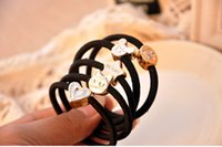 Wholesale South Korea ornaments headdress flower elastic rope hair bands a hair band to black hair rope tire is small adorn article