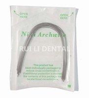 al por mayor arco de alambre de niti-Rectangular NiTi Dental Intraoral Ortodóntico Archwire Superelástico 10Pcs Paquete