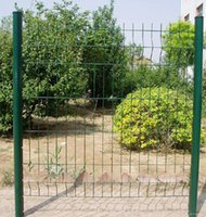 Wholesale Supplier High Quality Double fencing Cheap Twin Wire Mesh Fence Double Horizontal Barriers Standard Guardrail for Road and Garden Security